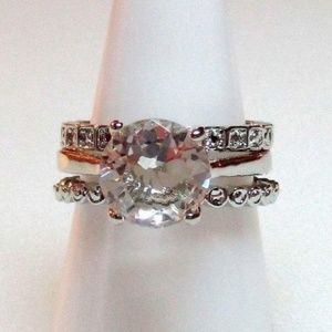 #355 Ring 8.5 Simulated Diamond 3 Piece Set
